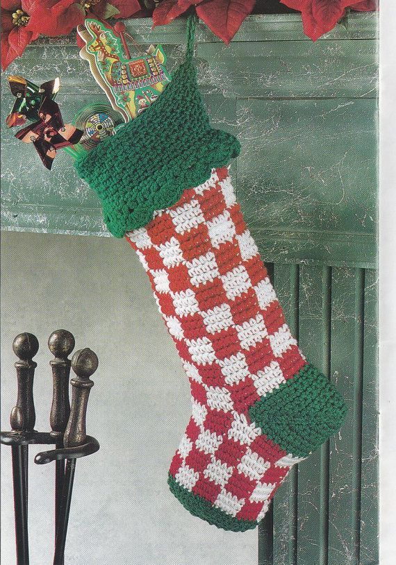 7 besten Crochet Stockings Bilder auf Pinterest | Adventskalender ...