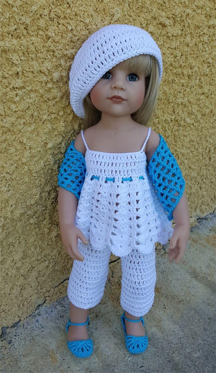 123- FICHE PATRON CROCHET Ensemble Inaya pour poupée Hannah de Götz : Jeux, jouets par atelier-crochet