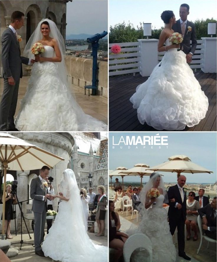 Enett bride by La Mariée Budapest bridal Licia esküvői ruha - Pronovias kollekció http://mobile.lamariee.hu/eskuvoi-ruha/pronovias-2014/licia