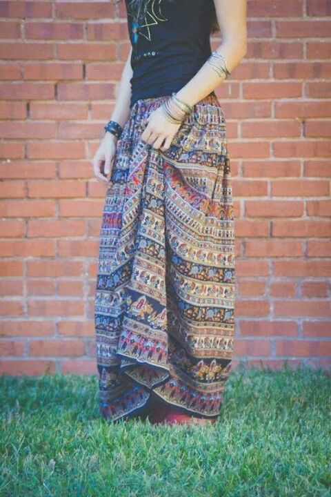 Awesome, Indian Maxi Skirt at Earthbound Trading Company