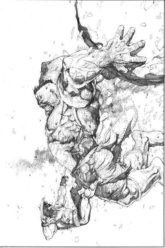 Ultimate Hulk vs. Ultimate Wolverine - Lenil Yu