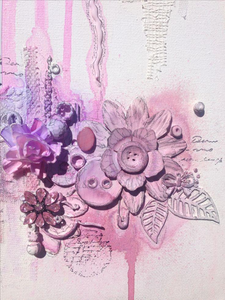 Mixed media canvas 3 @isblueart @createcraftau