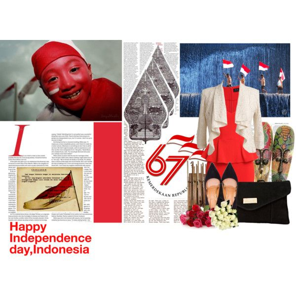Happy Independence day,INDONESIA!  by itsmefany on Polyvore