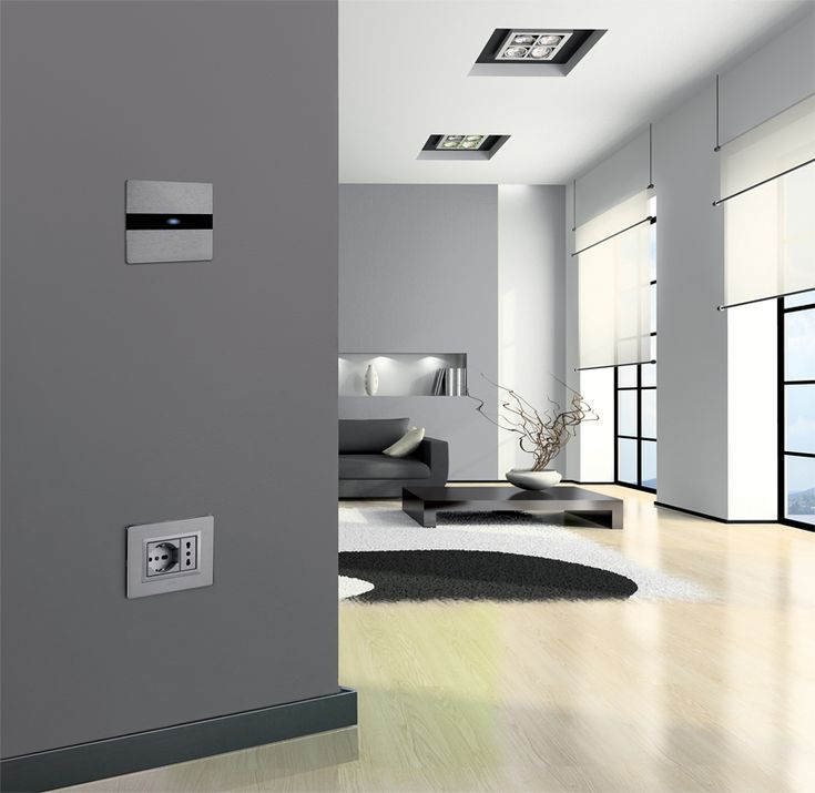 Touch switches with aluminium or glass plates by Ave AVE Spa