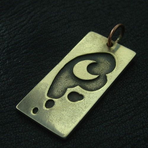 Bronze Luna's Moon pendant by TheSunkenCity on Etsy