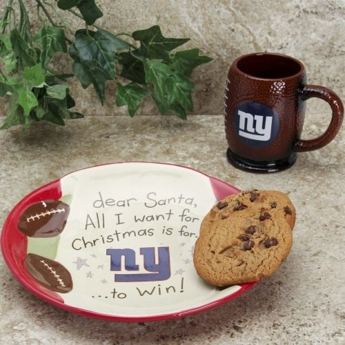 New York Giants Cookies For Santa Gift Set