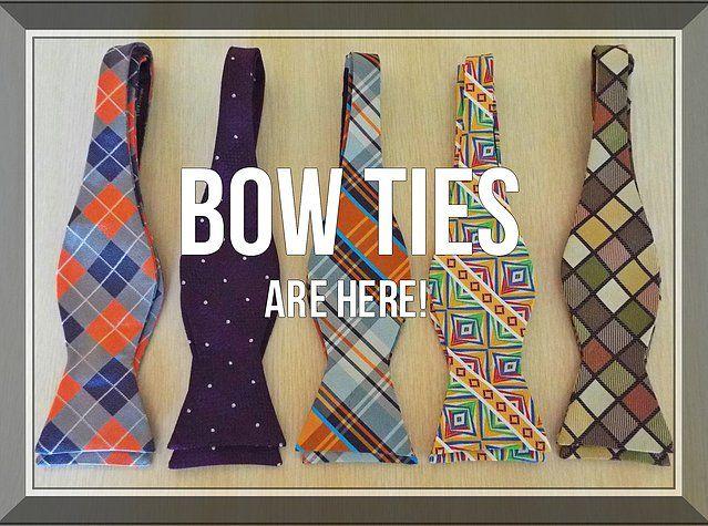 Tie Aficionado Bow Ties $19.99.  www.tieaficionado.com 100% Silk hand made bow ties