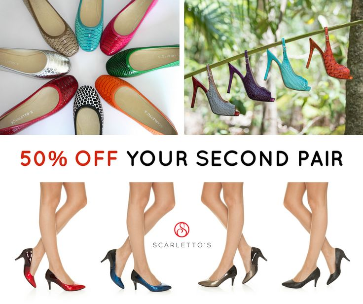 It's our 2nd BIRTHDAY and we are CELEBRATING by offering you 50% OFF YOUR 2nd PAIR of Scarlettos! Flats, mid-heels and stilettos included. Offer ends 31 October or when stocks run out. FREE SHIPPING! http://scarlettos.com.au/shop-all/