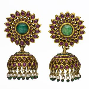 Indian earrings known as jhumka
