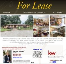 JUST LISTED...House for Lease Located on E Beverly Dr., Corsicana Call me Denise Harper at 903 654 1795