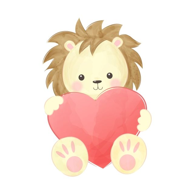 Cute Lion Hugging Red Heart Lion King Clipart Adorable Animal Png And Vector With Transparent Background For Free Download Cute Lion Baby Shower Background Animals
