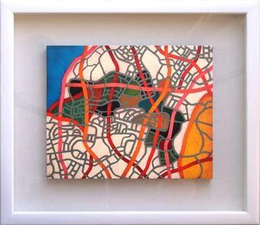 "Luciano de Liberato; Painting, ""map 18/5"""