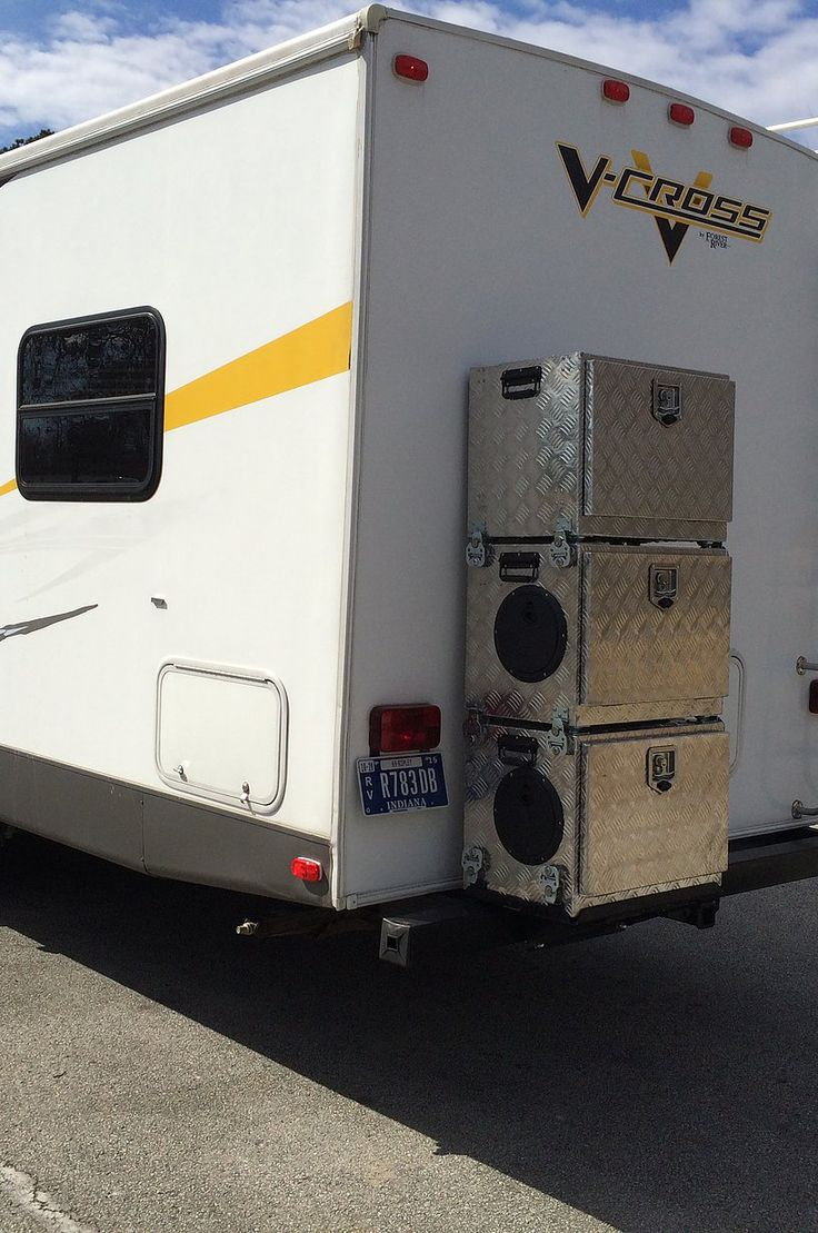 Generator Boxes for Travel Trailers Camper Generator for Travel Trailer generator storage Honda EU2000 travel trailer storage Honda extended run fuel system