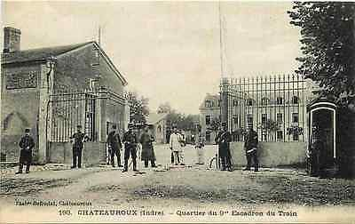 Chateauroux France 1916 9th District Squad Training Antique Vintage Postcard