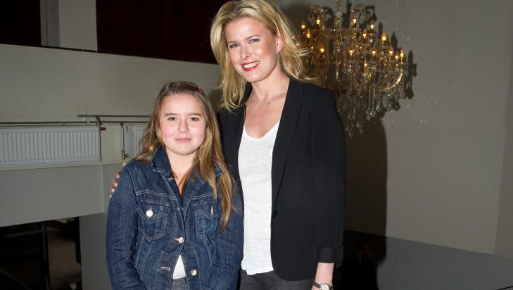 MOTHER AND DAUGHTER: Vendela Kirsebom says her daughters are cautious and reasonable, and know the difference between right and wrong.  Here is the model with her youngest daughter, Hannah (12), last year.  Photo: Stella Pictures