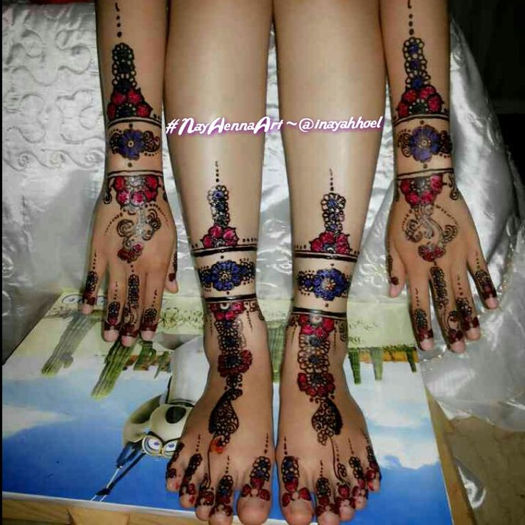 Design by Nay Henna Art Bandar Lampung, beauty of Henna for wedding day..