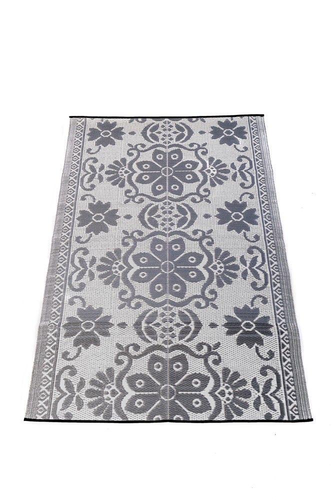 natte gris blanc nattes 35 00 180 x 120 cm tapis en plastique recycl teint dans la. Black Bedroom Furniture Sets. Home Design Ideas