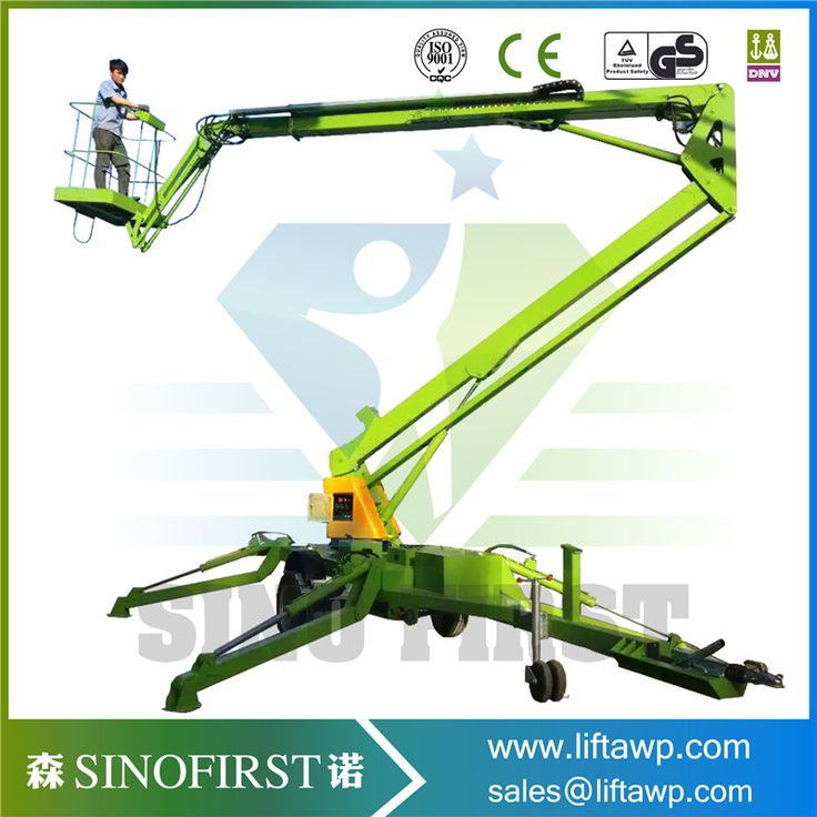 Factory Sale Towable Boom Lift Trailer Mounted Cherry