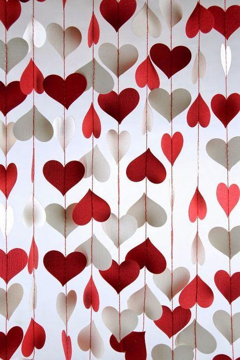 Dicas pra Noivas: DIY- Cortinas feito com corações para decoração romântica