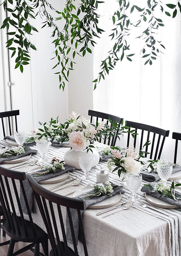 Spring Table for Mother's Day with @parachutehome #MyParachuteTable #partner