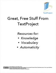Great, Free Stuff From TextProject: Resources for Knowledge, Vocabulary & Automaticity » TextProject