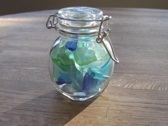 Beach Decor Genuine Sea Glass Nautical Desk by TidesTreasures, $18.50