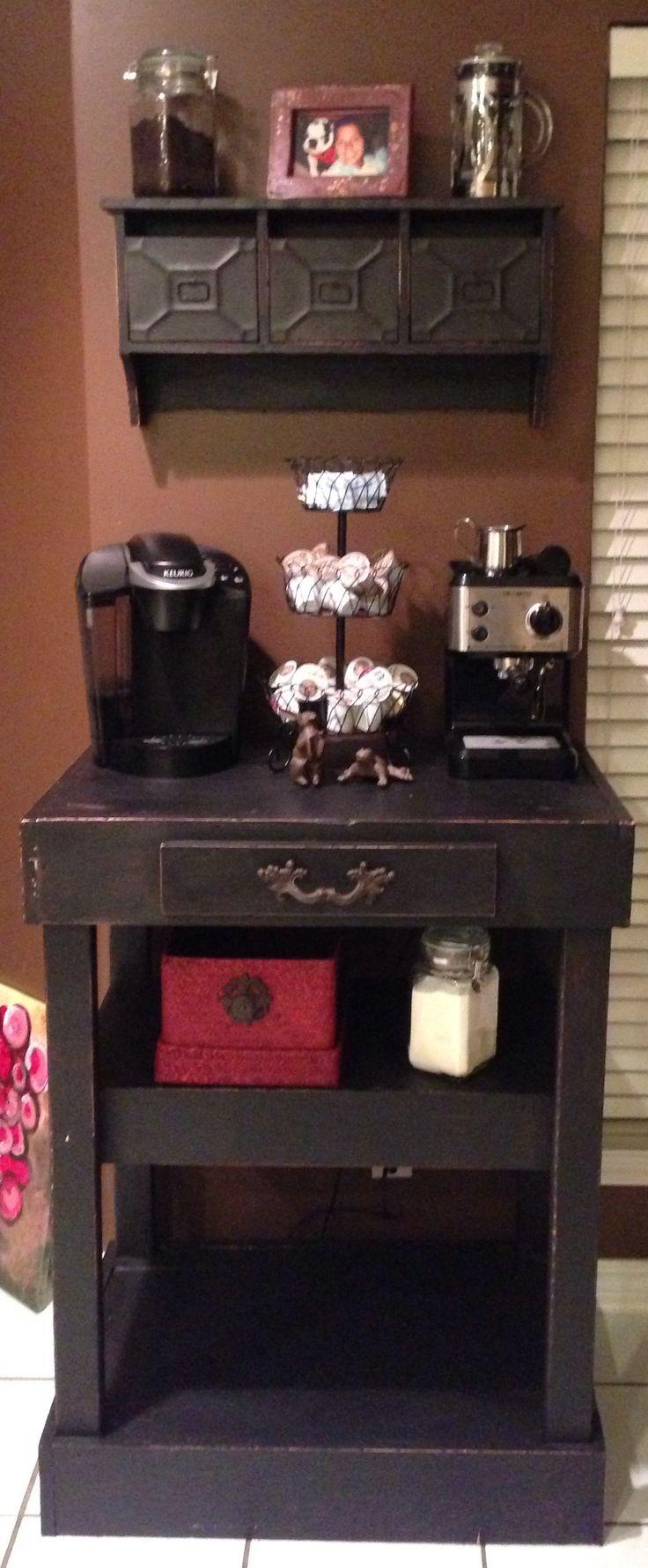 176 best coffee center ideas images on pinterest coffee for Coffee station ideas for the home