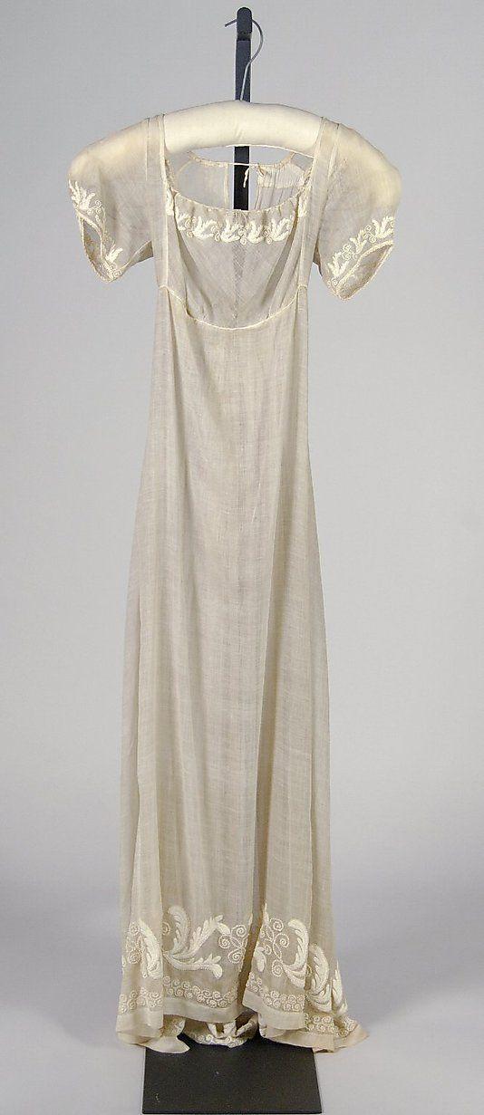 1812 Wedding Dress, Cotton. American. Metmuseum.org