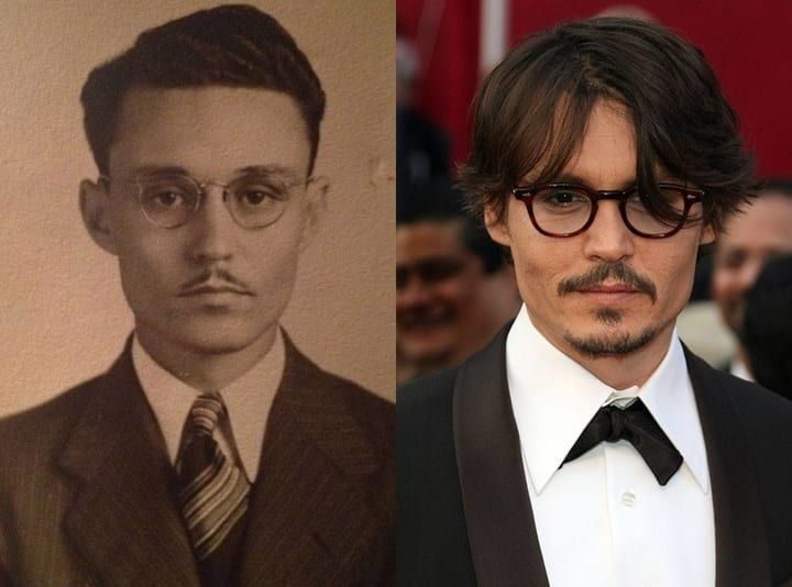 History S Most Mind Melting Celebrity Doppelgangers Time Travel Famous Celebrities Time Travel Theories