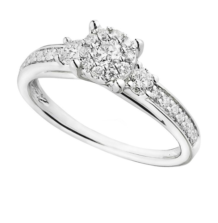 Great Cluster Engagement Rings for Those who Are on a Budget