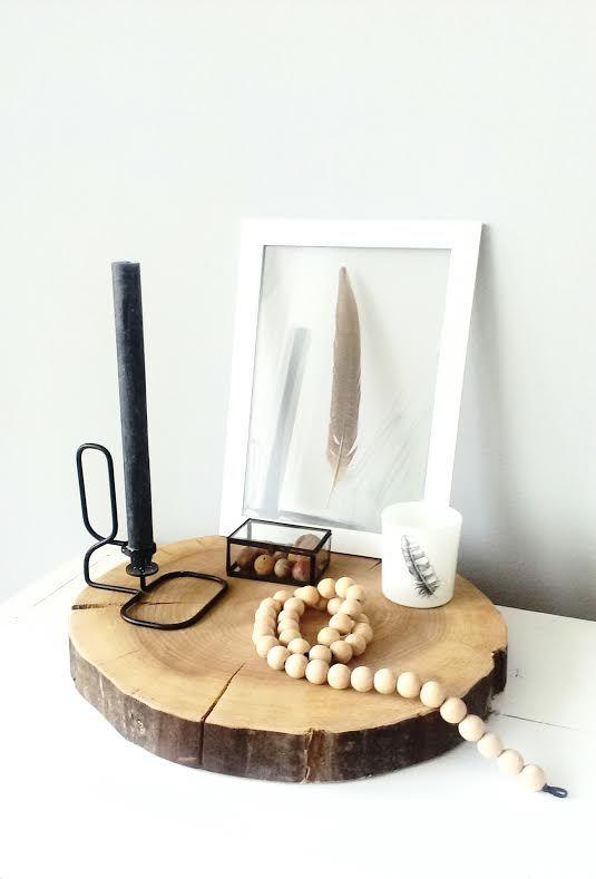 Boomstamschijf van de iep, te gebruiken als dienblad en woondecoratie @myroom26