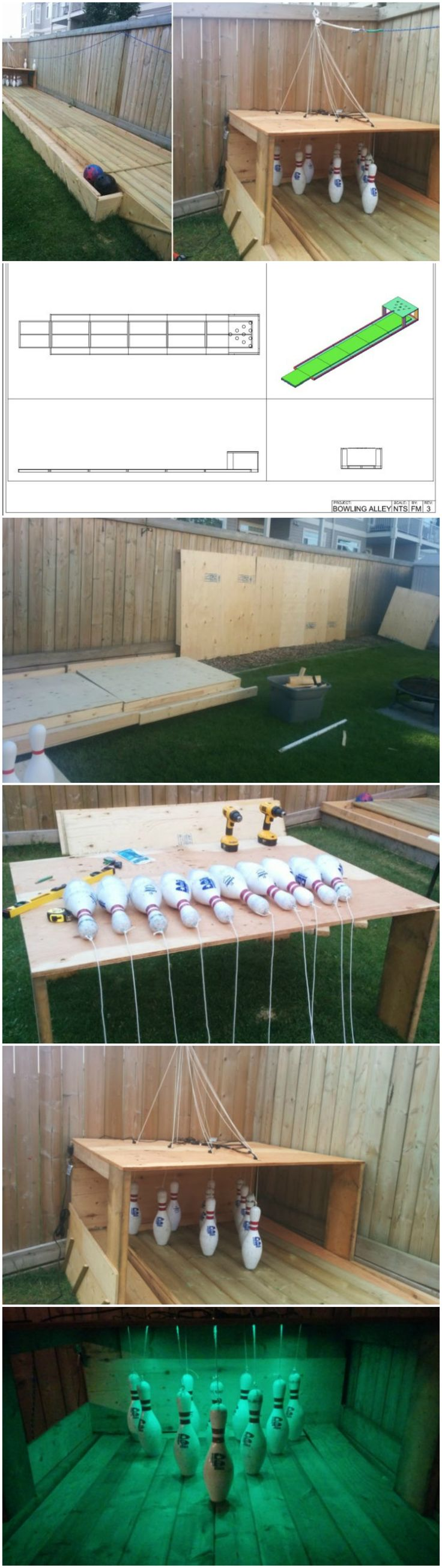 diy outdoor bowling backyard bowling alley