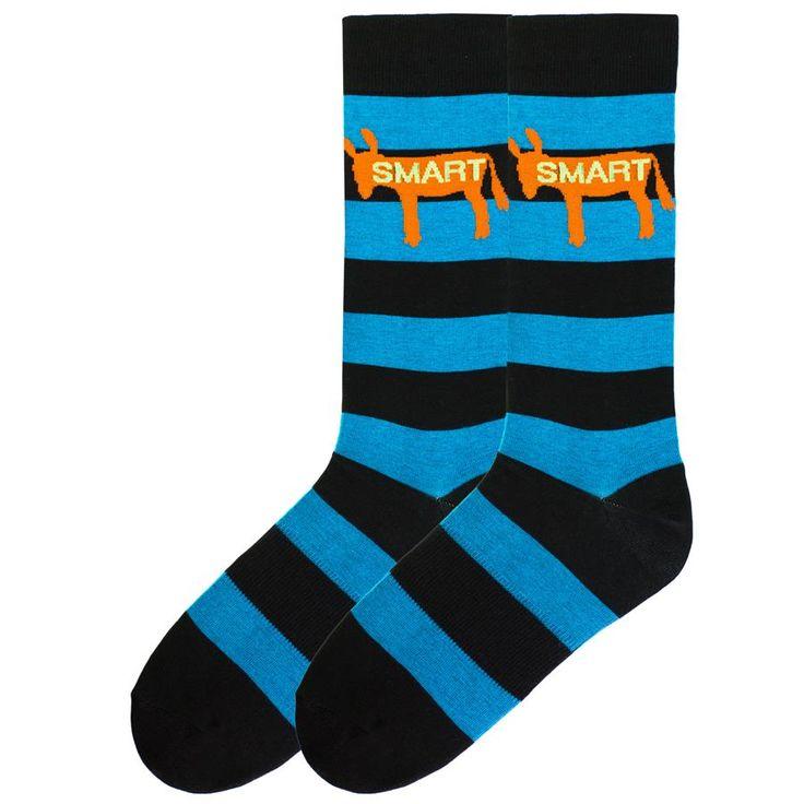 For the smart ass guy in the office! Men's Smart Ass Crew Socks #kbellsocks