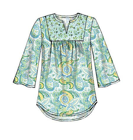 New tunic/top sewing pattern from McCall's has a decided peasant/'70s vibe. M7284, Misses' Tops