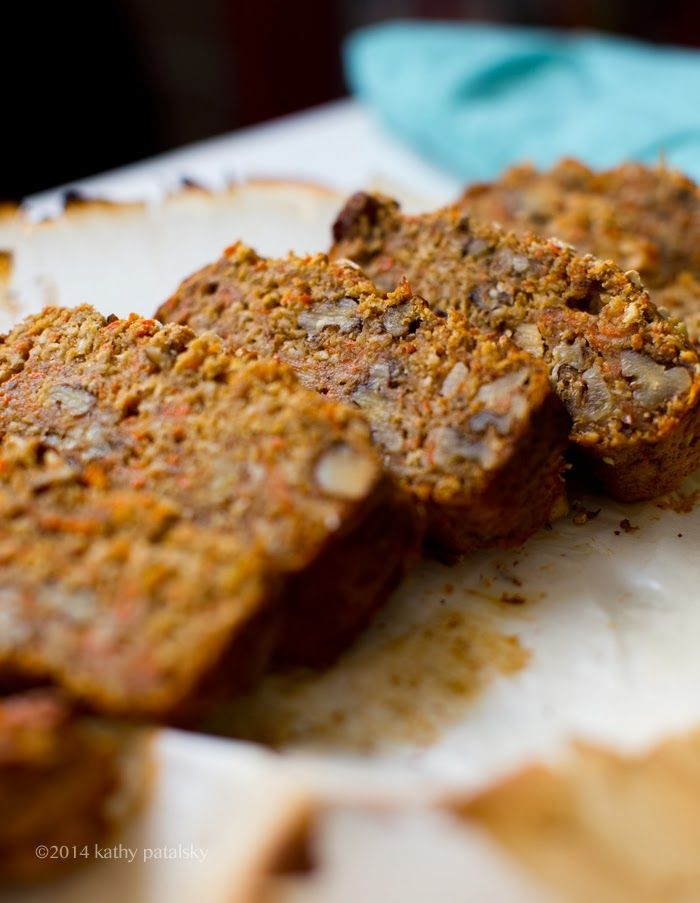 Rustic Carrot-Banana Bread with Walnuts. Gluten-Free.