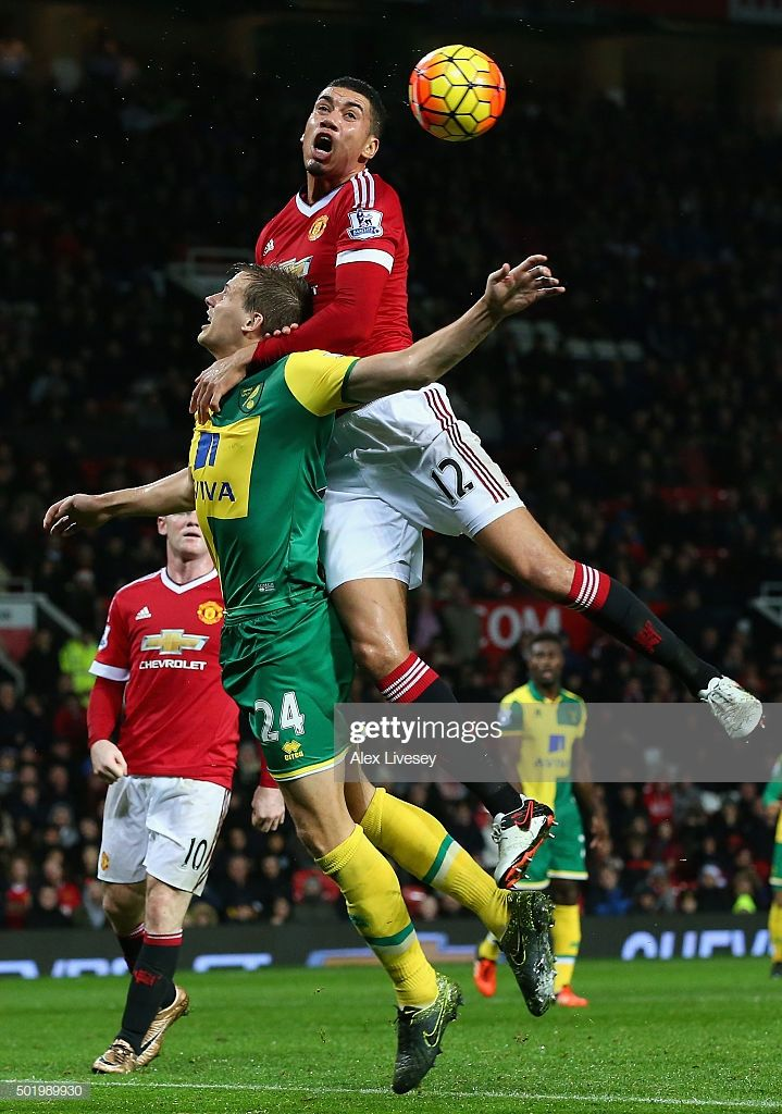 Chris Smalling Of Manchester United And Ryan Bennett Of Norwich City Manchester United Manchester Norwich City