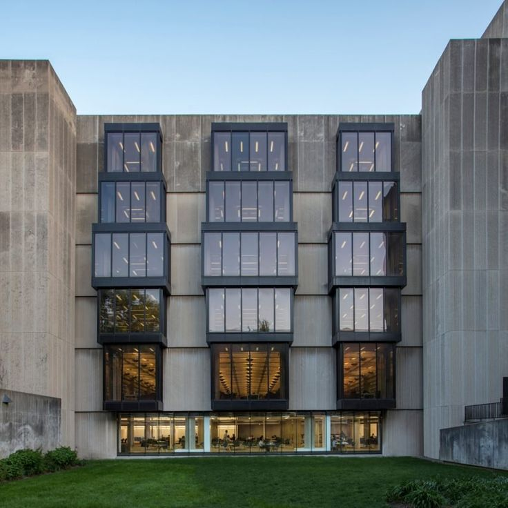 Brutalist library in Chicago gets interior update by Woodhouse Tinucci