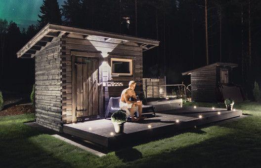 Salvoksen Muorin sauna on pihasauna selkeimmillään. Muorin sauna voidaan sijoittaa pienellekin tontille.