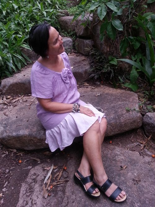 Sew 355 - Thanks farmers, makers, donators - trim sleeves on a shirt and turn into a dress by refashioning a skirt
