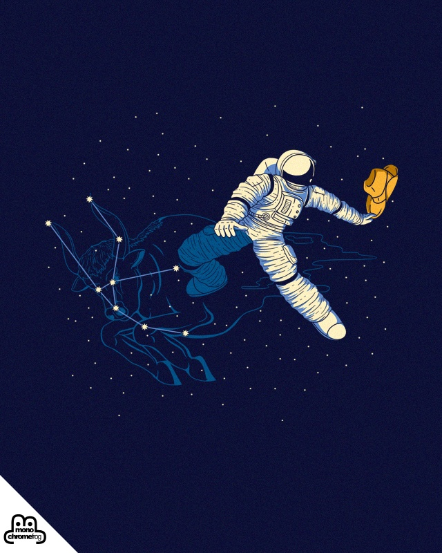 Wild Ride in Space | Need your high 5 at #Threadless #art #graphic #design #illustration #drawing #tshirt #tees