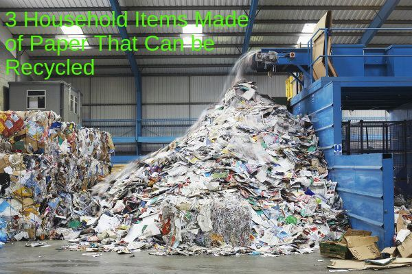 3 Household Items Made Of Paper That Can Be Recycled Recycling Recycling Facts Strange Things Are Happening