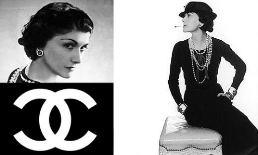 Coco Chanel and her 'little black dress' that she introduced to the fashion and style world in 1920.