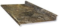 CustomCraft Countertops™ 4' Golden Mascarello Aurora Edge Laminate Countertop