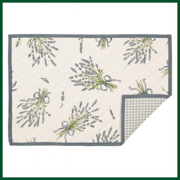 Gestepptes Tischset LAVENDEL Platzdeckchen Textil Wohntextilien Küchentextilien