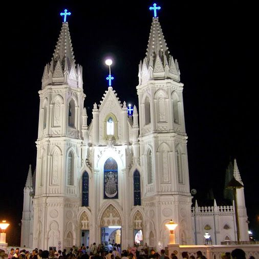 """This is considered as the most prominent church for about the centuries and is known as """" Lourdes of East"""". Situated in Bay of Bengal, Velankanni is considered famous for three miracles like Apparition of Mary, curing lame of buttermilk, & Jesus to slumbering shepherd boy & survival of Portuguese sailors from sea storms!!"""