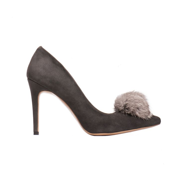 Fur tassel stiletto