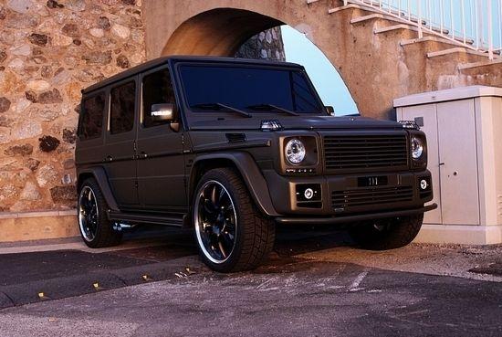 Custom Matt Black Merc G Class | Awesome Pictures ...