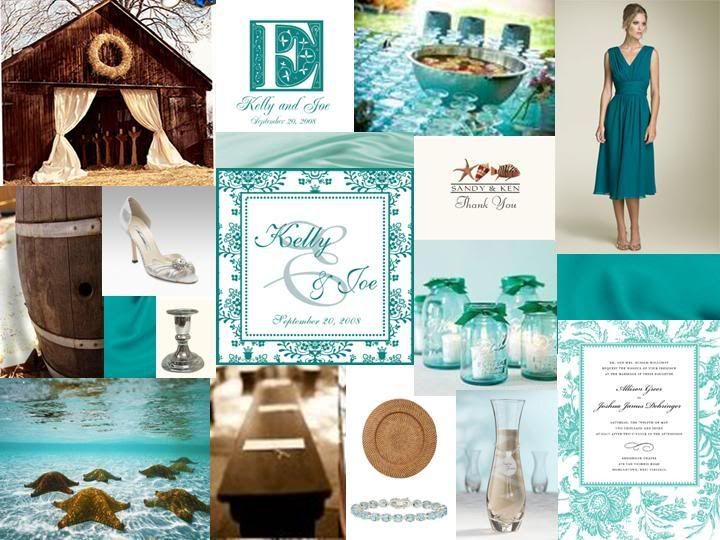 Brown And Teal Wedding Ideas: 111 Best Teal & Ivory Wedding Images On Pinterest