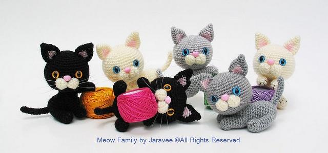 crochet kitties!!