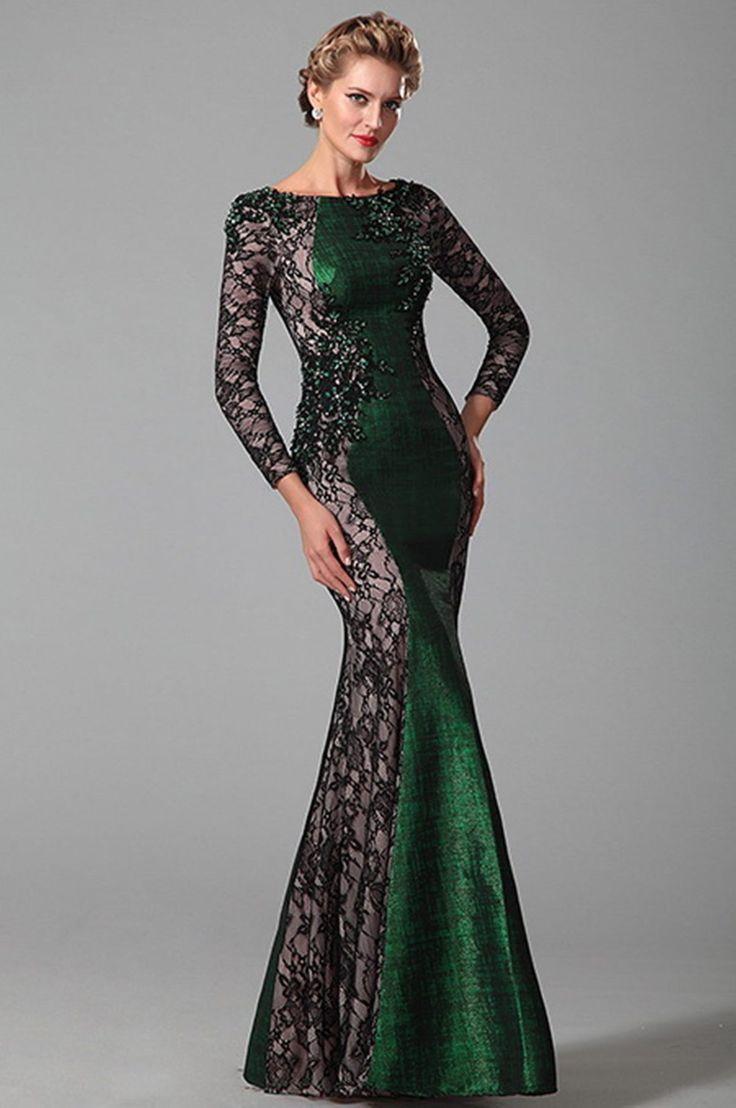 Zelené šaty E00390 - hlavná fotka